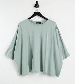 Свободная футболка шалфейно-зеленого цвета с рукавами «летучая мышь» ASOS DESIGN Maternity-Зеленый цвет Maternity