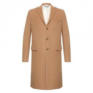 Шерстяное пальто Givenchy. Цвет: бежевый