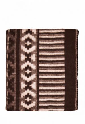 Одеяло 2-спальное Arloni. Цвет: коричневый