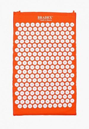 Массажер для тела Bradex Коврик акупунктурного массажа Нирвана, 65х40х2 см. Цвет: оранжевый
