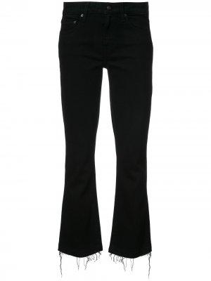 Укороченные джинсы буткат Derek Lam 10 Crosby. Цвет: черный