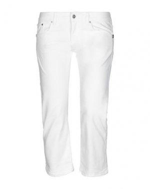 Джинсовые брюки-капри RICHMOND DENIM. Цвет: белый
