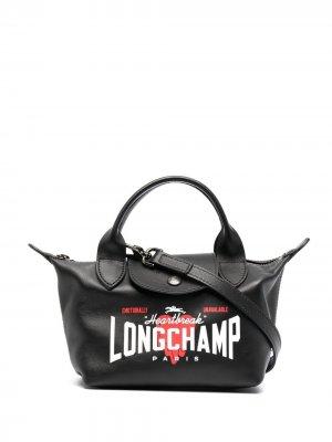 Сумка-тоут XS Le Pliage Longchamp. Цвет: черный