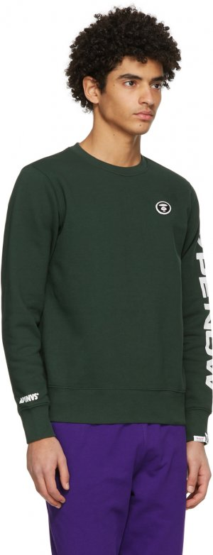 Green Detachable Logo Sweatshirt AAPE by A Bathing Ape. Цвет: dark green