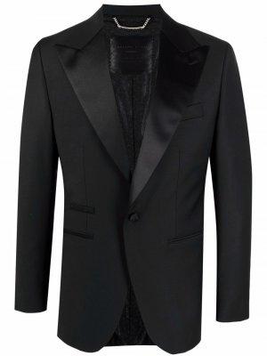 Пиджак с одной пуговицей Philipp Plein. Цвет: черный
