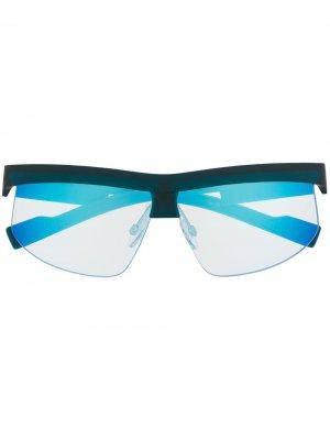 Солнцезащитные очки Shield DKNY. Цвет: синий