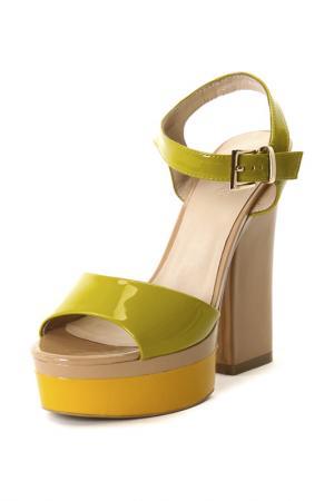 Туфли Calipso. Цвет: зеленый, бежевый