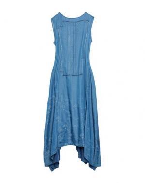 Платье длиной 3/4 HIGH by CLAIRE CAMPBELL. Цвет: синий