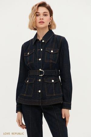 Джинсовая куртка с накладными карманами LOVE REPUBLIC