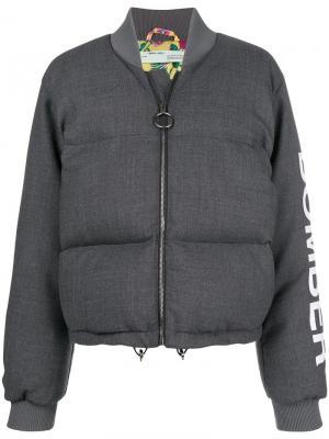 Puffer bomber jacket Off-White. Цвет: серый