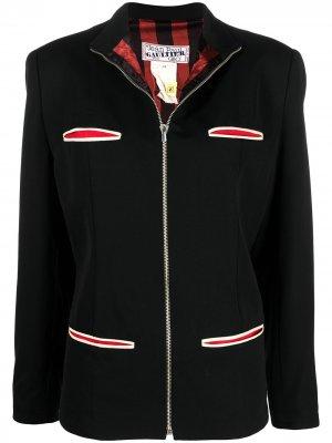 Куртка на молнии с воротником-стойкой Jean Paul Gaultier Pre-Owned. Цвет: черный