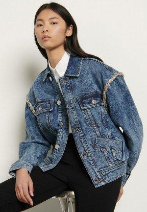 Куртка джинсовая Sandro. Цвет: синий