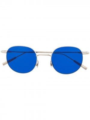 Солнцезащитные очки в круглой оправе AMBUSH. Цвет: серебристый