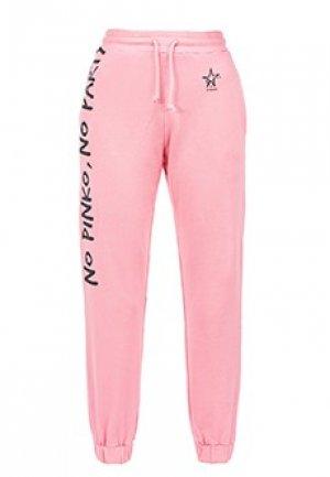 Спортивные брюки PINKO. Цвет: розовый