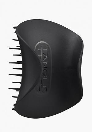 Расческа Tangle Teezer The Scalp Exfoliator and Massager Onyx Black. Цвет: черный
