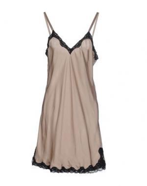 Короткое платье GUARDAROBA by ANIYE. Цвет: бежевый