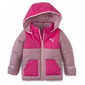 Детская куртка Minicats Padded Jacket PUMA. Цвет: розовый