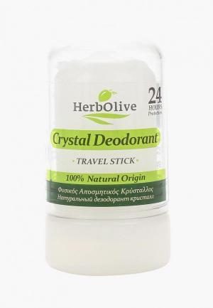 Дезодорант HerbOlive Кристалл натуральный стик, 60 гр. Цвет: белый