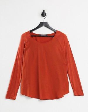 Креповый топ оранжевого цвета -Оранжевый French Connection