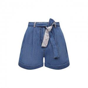 Джинсовые шорты Ermanno Firenze. Цвет: голубой