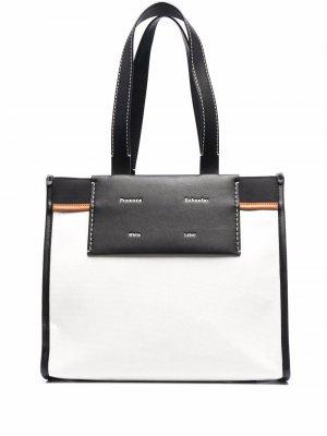 Большая сумка-тоут Morris Proenza Schouler. Цвет: белый