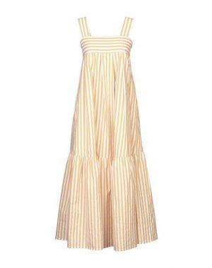 Длинное платье ROBERTO COLLINA. Цвет: охра