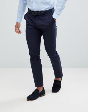 Темно-синие брюки скинни под смокинг River Island. Цвет: темно-синий