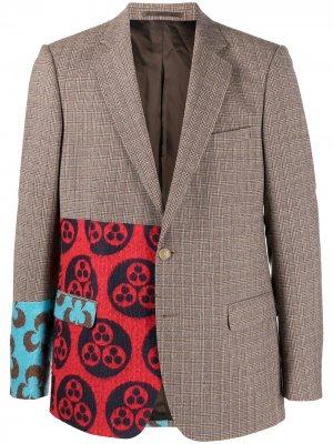 Пиджак Sharp Walter Van Beirendonck Pre-Owned. Цвет: коричневый