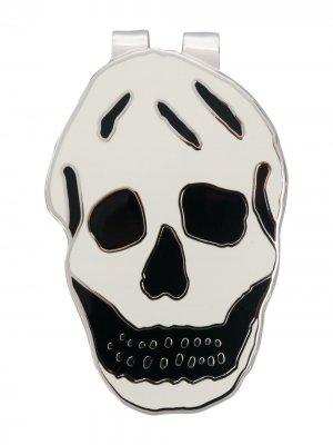 Зажим для денег с декором Skull Alexander McQueen. Цвет: нейтральные цвета