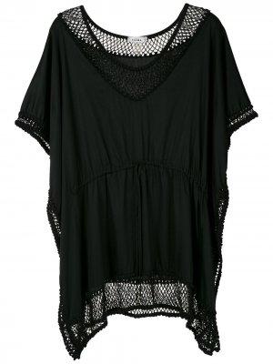 Короткое платье с вышивкой Amir Slama. Цвет: черный
