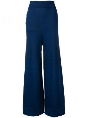 Широкие брюки Antonio Marras. Цвет: синий