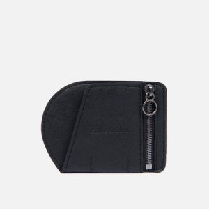 Кошелек Zippered Coin Purse Recycled Leather Cote&Ciel. Цвет: чёрный