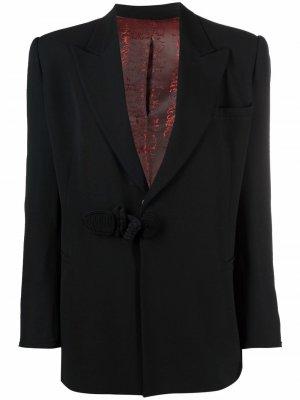 Блейзер 1990-х годов с застежкой тогл Jean Paul Gaultier Pre-Owned. Цвет: черный