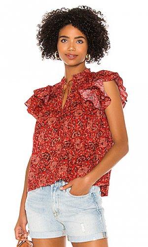 Блузка gabi Ulla Johnson. Цвет: красный