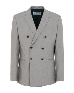 Пиджак SELECTED HOMME. Цвет: голубиный серый