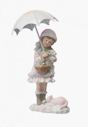 Фигурка декоративная Decogallery Девочка под зонтом
