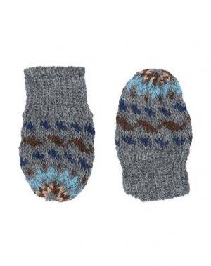 Перчатки CARAMEL. Цвет: серый
