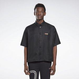 Рубашка с коротким рукавом by Pyer Moss Reebok. Цвет: black