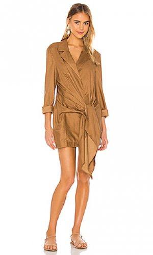 Мини платье snoh LAcademie L'Academie. Цвет: коричневый