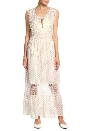 Платье длинное Anna Rachele. Цвет: светло-бежевый