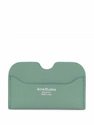 Картхолдер с тисненым логотипом Acne Studios. Цвет: зеленый