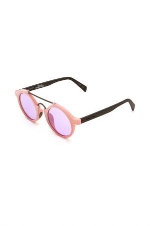 Очки солнцезащитные Italia Independent. Цвет: 009 016 розовый, черный матовы