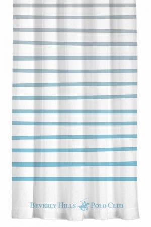 Штора, 140х260 Beverly Hills Polo Club. Цвет: white, light blue