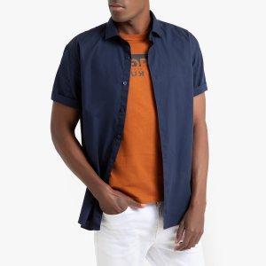 Рубашка La Redoute. Цвет: синий