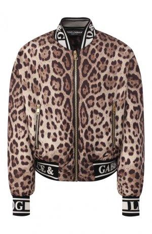 Бомбер Dolce & Gabbana. Цвет: коричневый