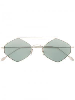 Солнцезащитные очки в шестиугольной оправе Spektre. Цвет: зелёный