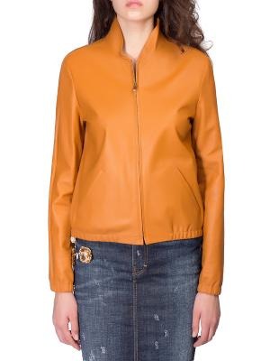Кожаная куртка Chloe. Цвет: оранжевый