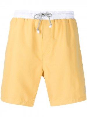 Плавки-шорты в двух тонах Brunello Cucinelli. Цвет: cj057 yellow