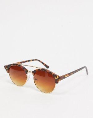 Черепаховые солнцезащитные очки-авиаторы -Коричневый цвет AJ Morgan