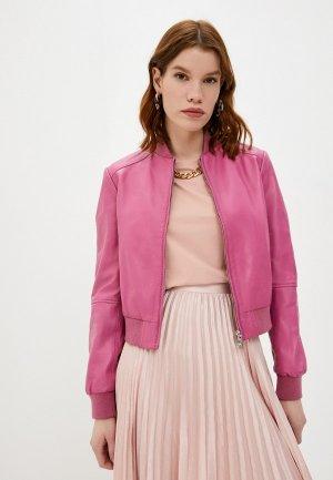Куртка кожаная Trussardi. Цвет: розовый